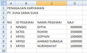Trik Excel Membuat Tabel